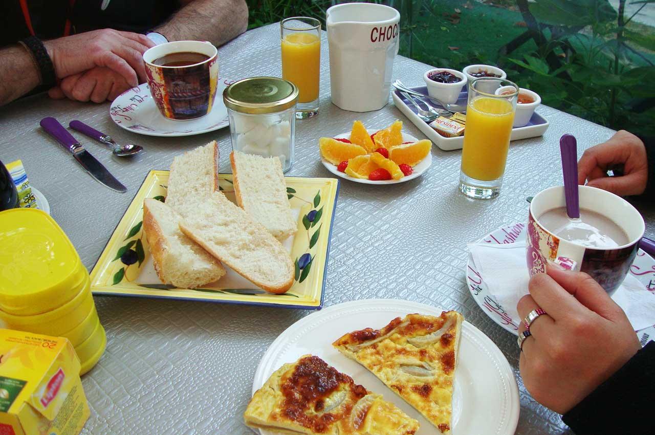 Petit-déjeuner Chambres d'hôtes Fréjus